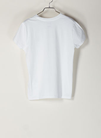 T-SHIRT LOGO RICAMATO, WHITE, small