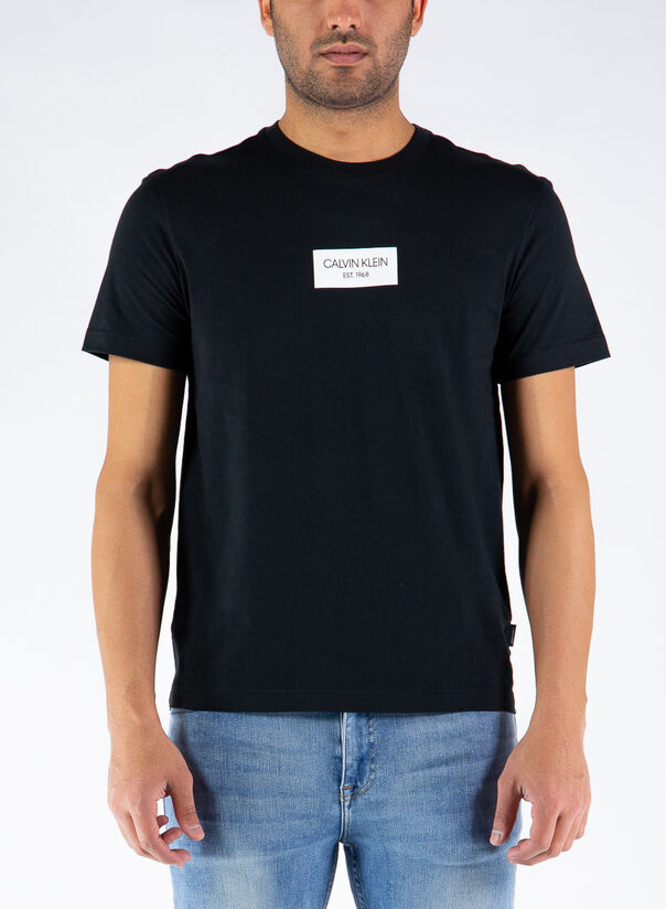 T-SHIRT CHEST BOX LOGO, BEH/CKBLACK, large