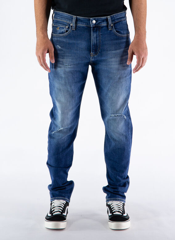JEANS SLIM TAPER, 1BJ/DENIMDARK, medium