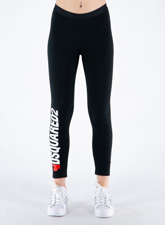 LEGGINGS LOGO, 010BLACK, medium