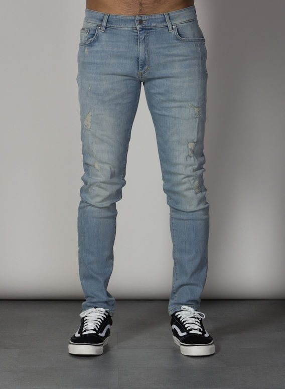 JEANS REPAIRER DENIM, PALE, medium