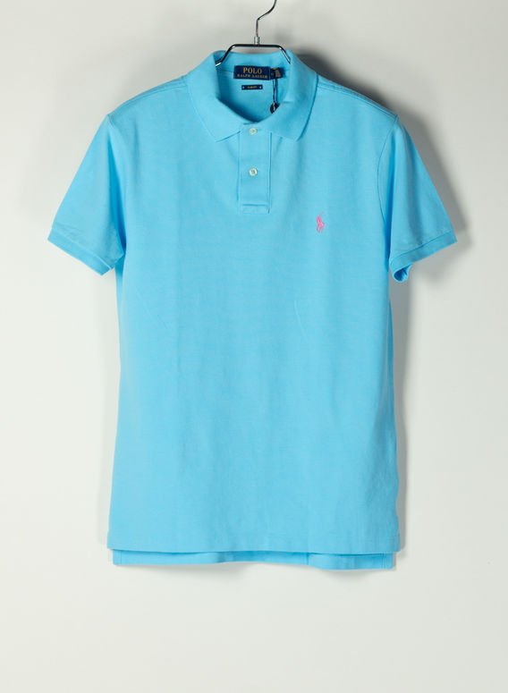 POLO A MANICHE CORTE, FRENCHTURQUOISEC3664, medium