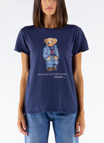 T-SHIRT GIROCOLLO POLO BEAR, 002CLASSICROYAL, small