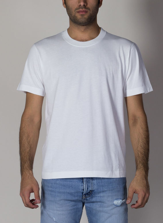 T-SHIRT MANICHE CORTE, 01WHITE, medium
