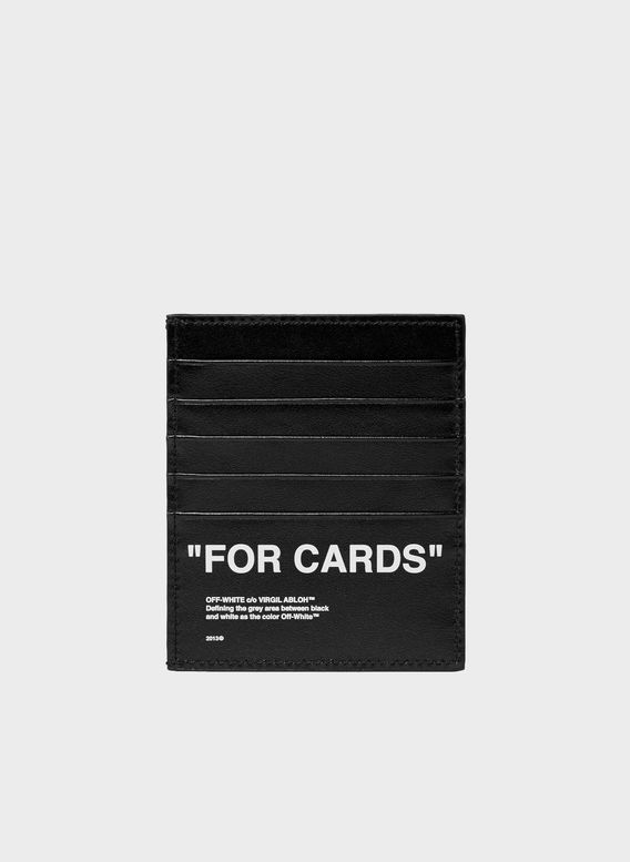 PORTACARTE QUOTE CARDHOLDER, SILVER/BLACK, medium