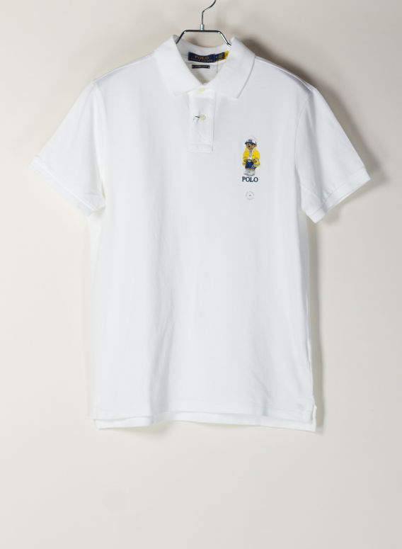 POLO A MANICHE CORTE, WHITE, medium