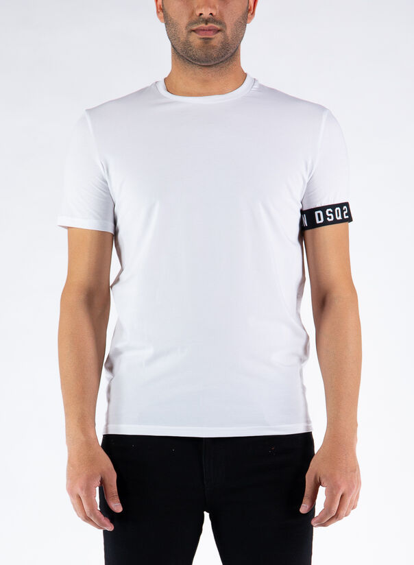 T-SHIRT ICON, 110WHITE/BLACK, large