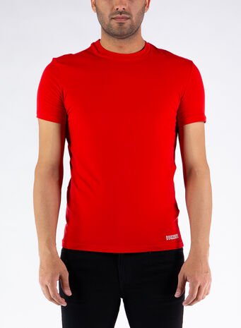 T-SHIRT REVERSE LOGO, 600RED, small