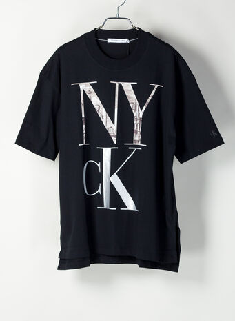 T-SHIRT CON LOGO NEW YORK, BAECKBLACK, small