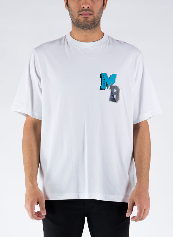 T-SHIRT MB COLLEGE OVER, 0140WHITELIGHTBLUE, large