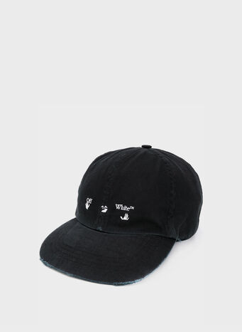 CAPPELLO OW LOGO BASEBALL, BLACK/WHITE, small