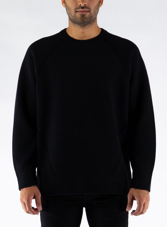 MAGLIONE CREWNECK KNIT, BLACK, medium