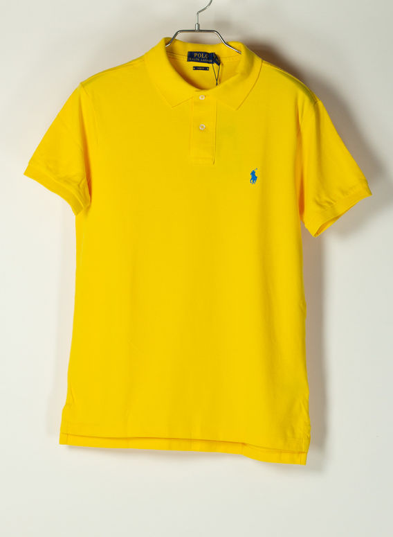 POLO A MANICHE CORTE, YELLOWFINC7370, medium