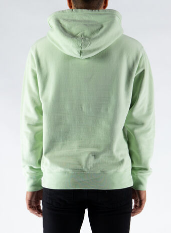 FELPA STOCK LOGO HOOD, GREEN, small