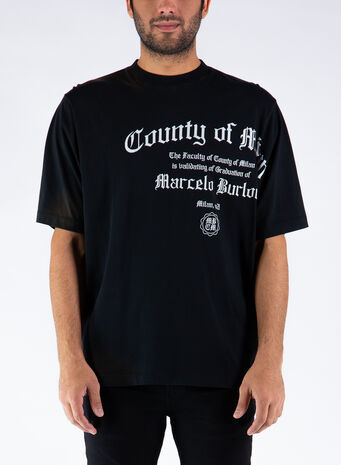 T-SHIRT COUNTY DEGREE OVER, 1001BLACKWHITE, small