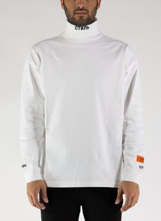 MAGLIA LS ROLL NECK CTNMB, 0110WHITEBLACK, medium