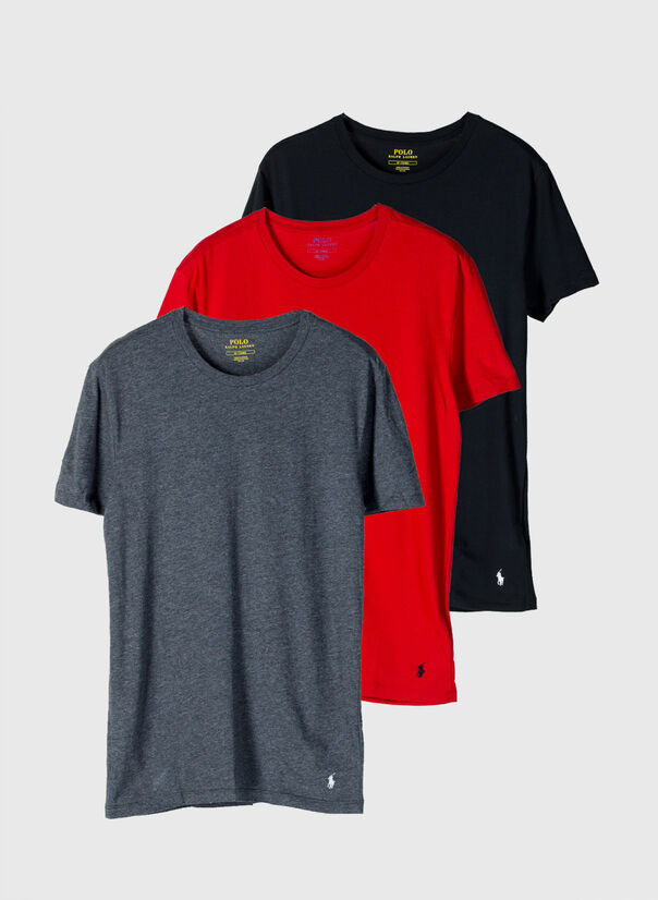 T-SHIRT 3PACK, 007BLK/GRY/RED, large