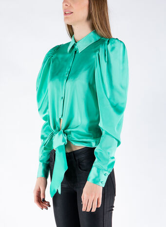 CAMICIA THE BOW, MINT, small