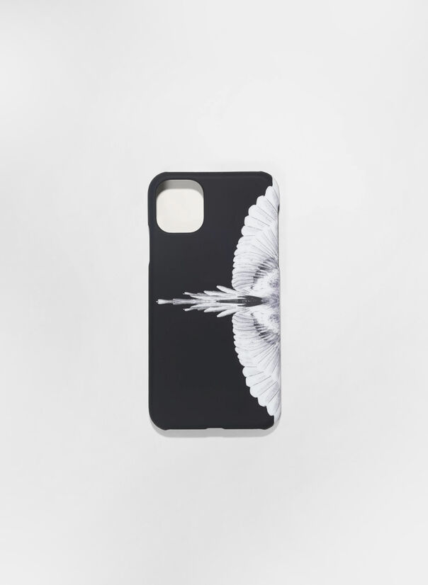 CUSTODIA PER IPHONE 11 PRO WINGS, 1001BLACKWHITE, large