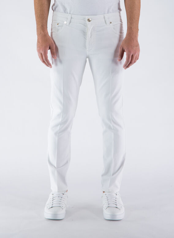 JEANS 5 TK DENIM CORTO, 1000BIANCO, medium