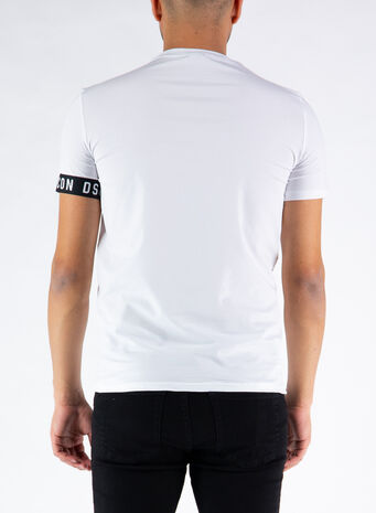 T-SHIRT ICON, 110WHITE/BLACK, small