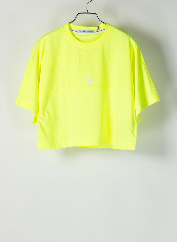 T-SHIRT CROP LOGO, ZAASAFETYYELLOW, medium