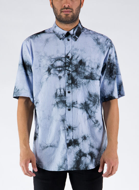 CAMICIA TIE&DYE STRIPE SS OVER SHIRT, 0149WHITEDARK, medium