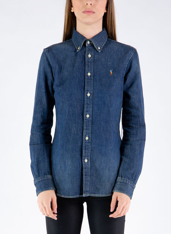 CAMICIA DENIM, 001BLAINEWASH, medium