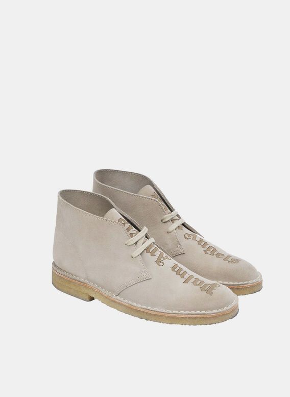 SCARPA LOGO OVER DESERT BOOTS, SAND/SAND, medium